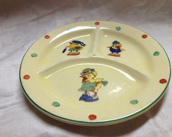 10% OFF SALE Vintage Childs Plate CP co 1035