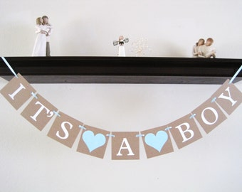Its A Boy banner, baby boy banner, baby boy shower decorations, baby shower decorations, boy baby shower, baby boy shower Banner