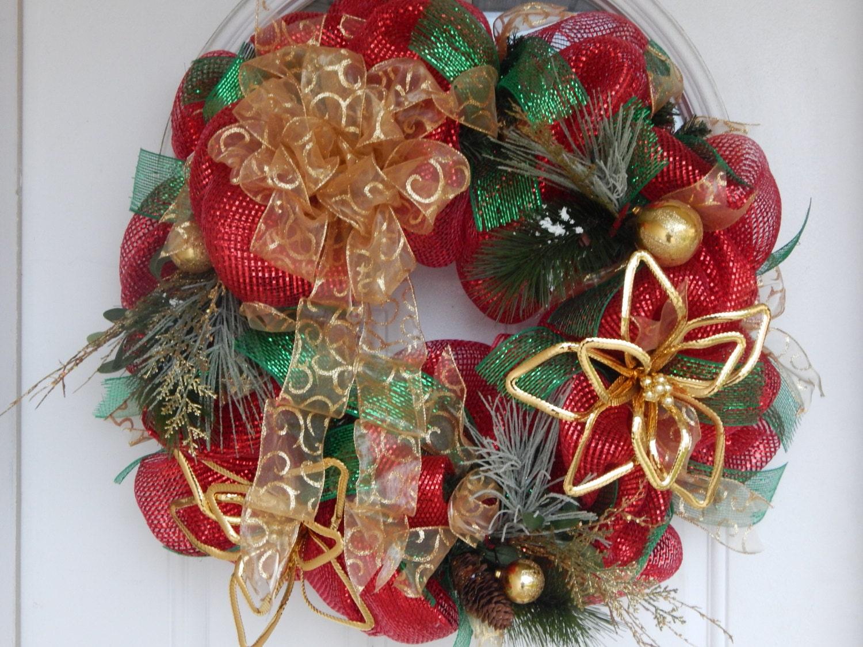 Elegant Christmas wreath holiday wreath by CelebratingTogether