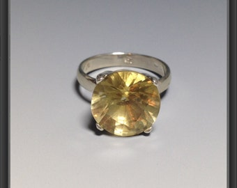 Sterling Silver ring with Citrine US size  6.75