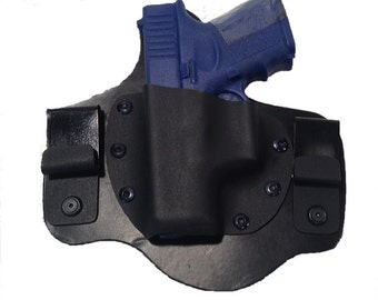 IWB Hybrid Leather and Kydex Holster for Glock 26 27 33 9mm .40 cal .357