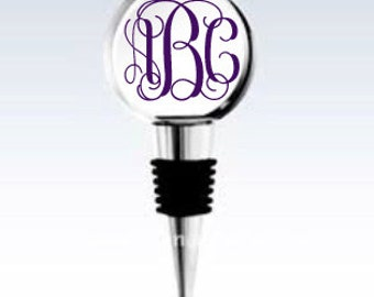 1.5 inch round crystal wine stopper - perfect gift!