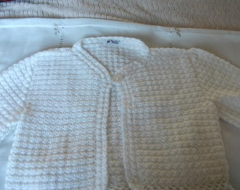 White Bed jacket Hand Crochet in Ireland