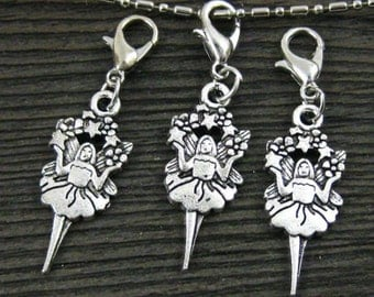 1 pc.Fairy Ballerina in  Dangle for Bracelets, Floating Charm Pendants, Necklaces & Keychains  D031