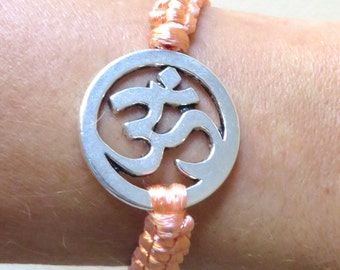 OHM/OM Yoga Serenity Customizable Charm Bracelet YOU Choose Your Color