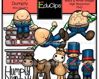 Humpty Dumpty Nursery Rhyme Clip Art Bundle