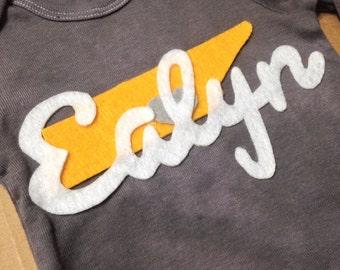 Custom TN onesie for baby Ealyn