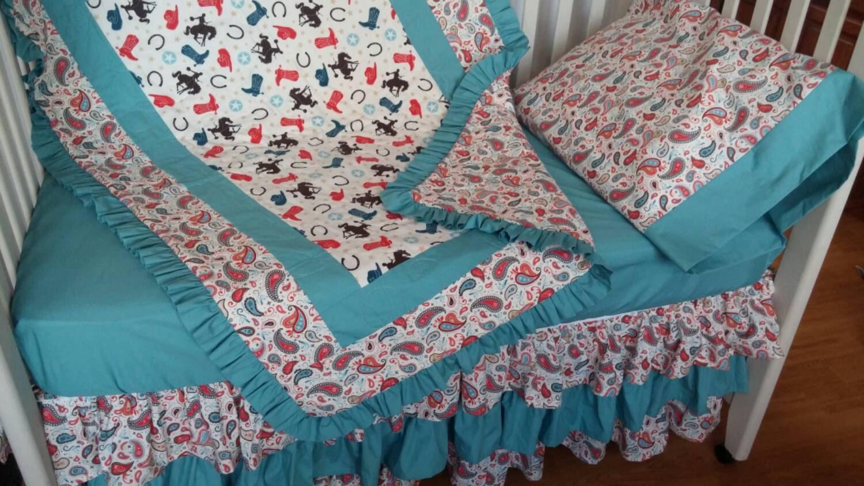 Girls Baby Bedding Western Cowgirl Crib Bedding Toddler