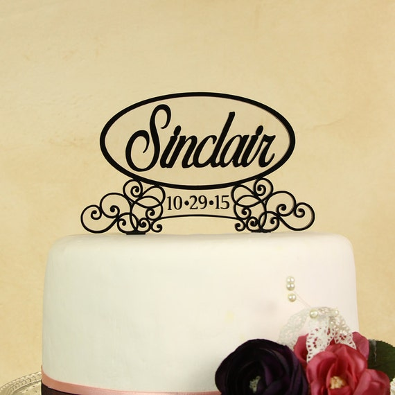 wedding cake topper name and date items similar to wedding cake topper personalized in your 26363