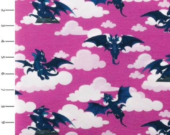 Knit Soaring Dragons Pink by Made Whimsy