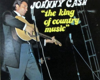 Rare Vintage Record Vinyl The King of Country Music Johnny Cash 1972 Sun Original