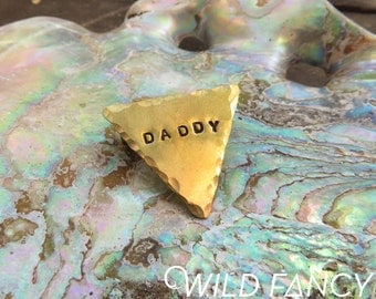 DADDY pin (hand-stamped brass)