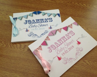 Baby Shower Personalised Guestbook with Diamonte Finish available in any colour
