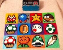 Mario Coaster set with Nintendo controller storage container