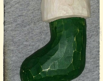 Hand Carved Stocking Ornament