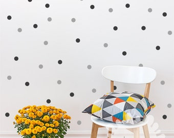 Polka dots Wall Decal / 2Color 140 Polka Dot / Small Polka Dots Decal / Kids wall decoration /  boys room / baby room / custom /gift