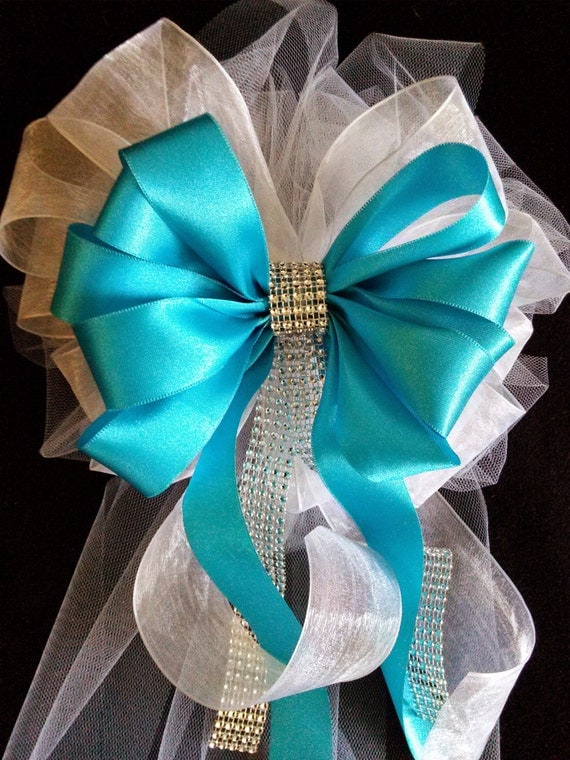 Wedding Bows Any Color Satin And Tulle Bows With By