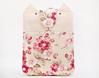 Floral iPad mini case, ipad mini sleeve, ipad mini cover, Custom tablet padded.