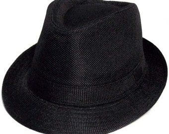 Black Fedora -- Toddler Fedora -- Baby Fedora -- Boy's Fedora -- Child Fedora