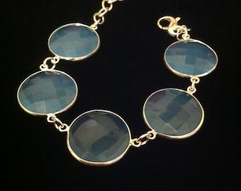 Reduced/Sky Blue Chalcedony Bracelet