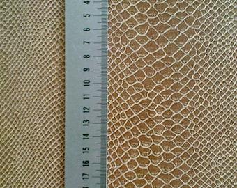 1970s Snakeskin Vinyl Leather Fabric