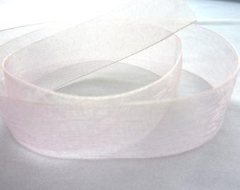 7/8 in. x 5 yards 150 Pink Organdy Ribbon