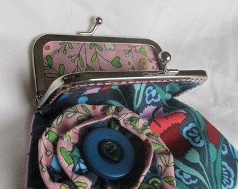 Beautiful Hand-Sewn Coin Purse With Metal Clasp