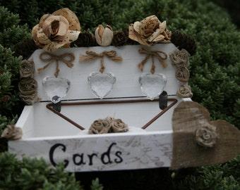White Wooden Rustic Wedding Card Box