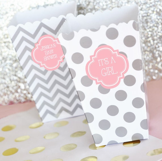 its a girl baby shower favors its a girl favor ideas pink and gray