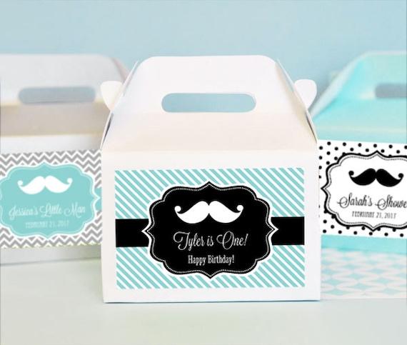 Baby Shower Mustache Theme: Items Similar To Mustache Baby Shower Favor Box Little Man