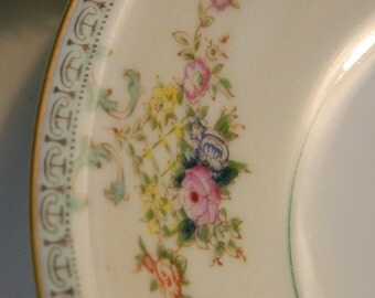 Set of 6 Vintage N S Japan Hand Painted China Berry Bowls - Occupied Japan