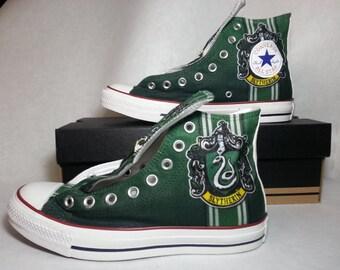 Harry Potter Slytherin Custom Converse All Stars