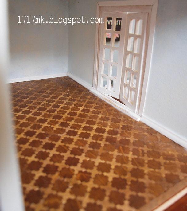 Miniature Dollhouse Tile Flooring: Kit Mosaic Tiles To Dollhouse. Miniature By MiniatureDesigner