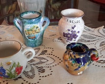 Four Marvelous Miniature Pitchers, Various Styles, Italy and More,Gifts, Collectibles, Souvenirs
