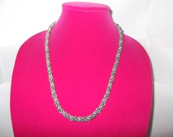 Vintage Chunky MONET Twist Necklace