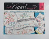 VINTAGE mr and mrs PILLOW CASE transfer patterns by vogart