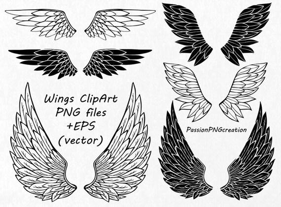 Digital Flügel Clipart, PNG, EPS, AI, Vektor, Wings clip-Art, Foto ...