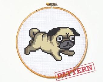 Pug Cross Stitch Pattern