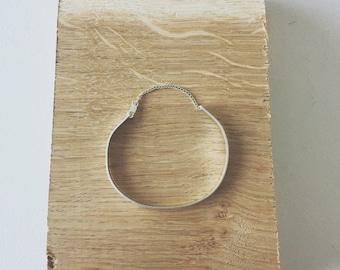 Morse Code Silver Cuff