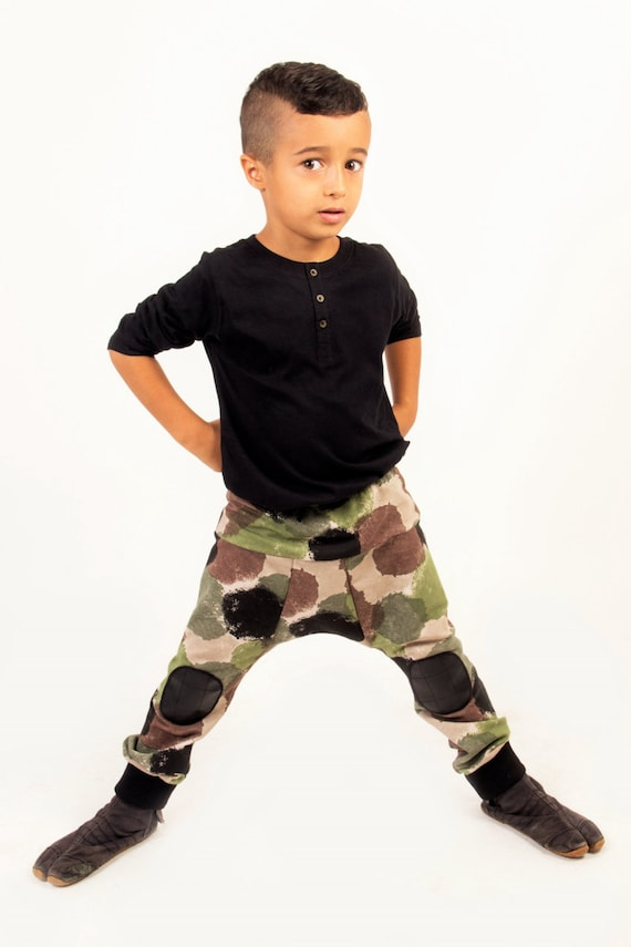 Boys harem pants Toddler Camouflage boys Pant Spring Fall harem pants Camo boys pants Boys camo pants  Harem Toddler pants Size:4T and 6T