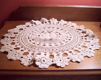 Beautiful Vintage Crocheted Doily