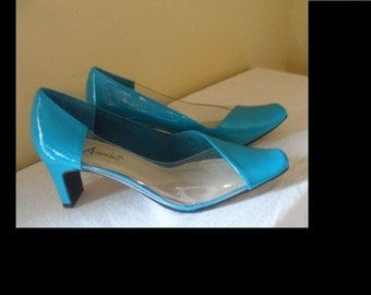 Size 7.5 Leather Eclipse Pumps by Annie