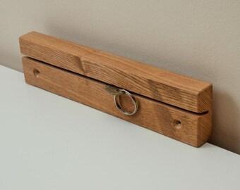 Solid Oak Key Rack Holder