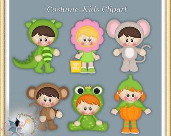 Halloween Clipart, Costume Kids