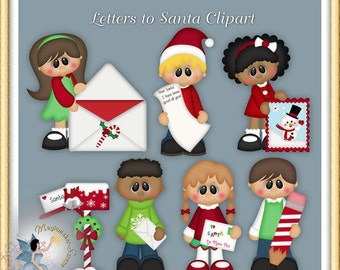 Christmas Clipart, Holiday, Letters to Santa