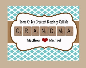 Grandma Gift, Grandma Print, Granny Print, Grandmother Gift, PDF Digital File