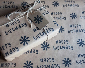 Birthday Wrapping Paper: Including 1 Piece Gift Wrap, 2 x Gift Tags & Twine