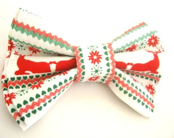 Christmas dog bow tie Dog collar bow tie Deer bow tie Christmas gift