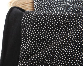 Stretchy Cotton Blend Knit Fabric 2 mm Polka Dot By The Yard