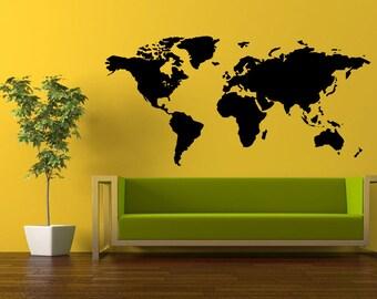 World Map Wall Office Decoration Vinyl Sticker Decal Home Housewares